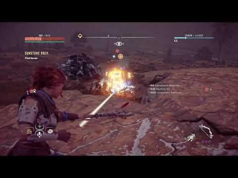 Horizon Zero Dawn Complete Edition battle biggest machine (hard mode)  