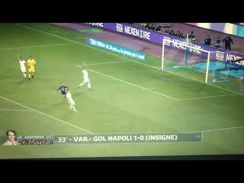 Gol Insigne Napoli-Milan 18.11.2017 VAR