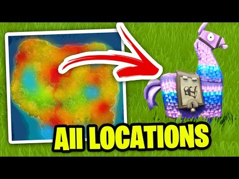 HOW TO FIND SUPPLY LLAMA EVERY GAME! Fortnite All Llama Spawn Locations