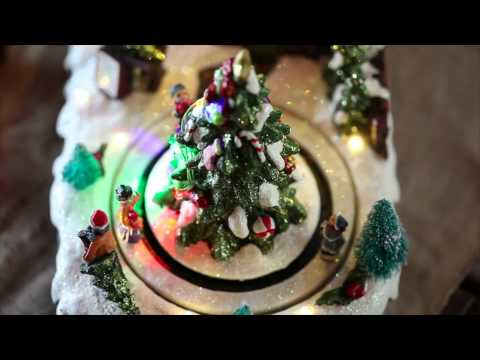 Lighted Christmas Village Music Box SKU#87961-Plow & Hearth