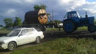 Ремонт дороги в селе Чермошнянка. Победа 2018 г