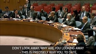 Russia's envoy to the UN Vladimir Safronkov snaps at the UK's envoy...