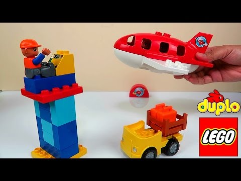 LEGO Duplo Airport Playset UNBOXING & BUILDING FUN Toy Video For KIDS Boys
