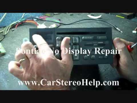 Pontiac Car Stereo Repair – No Display