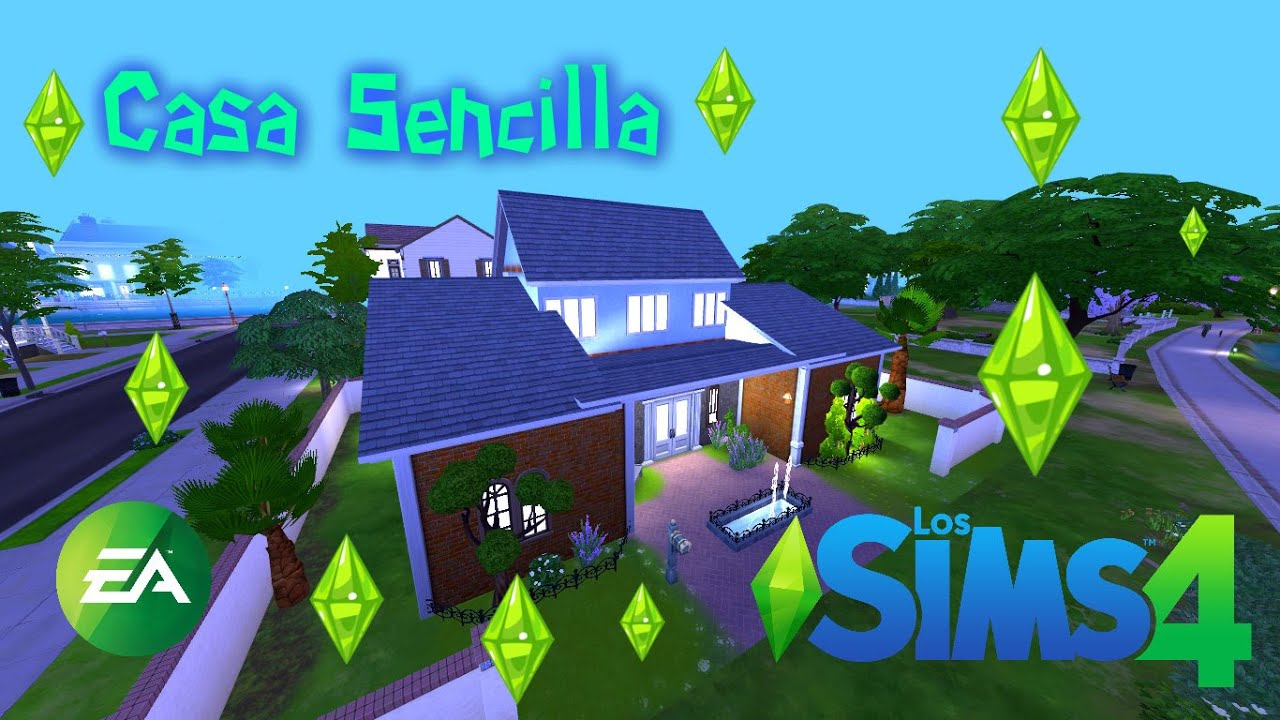 Sims 4 Creando CASASCasa Para empezarComo construir una casa sencilla para empezar  YouTube