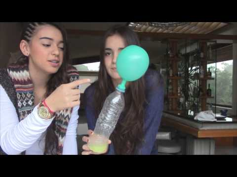 Experimentos botella + limón + bicarbonato Y  botella + calor + agua + globos