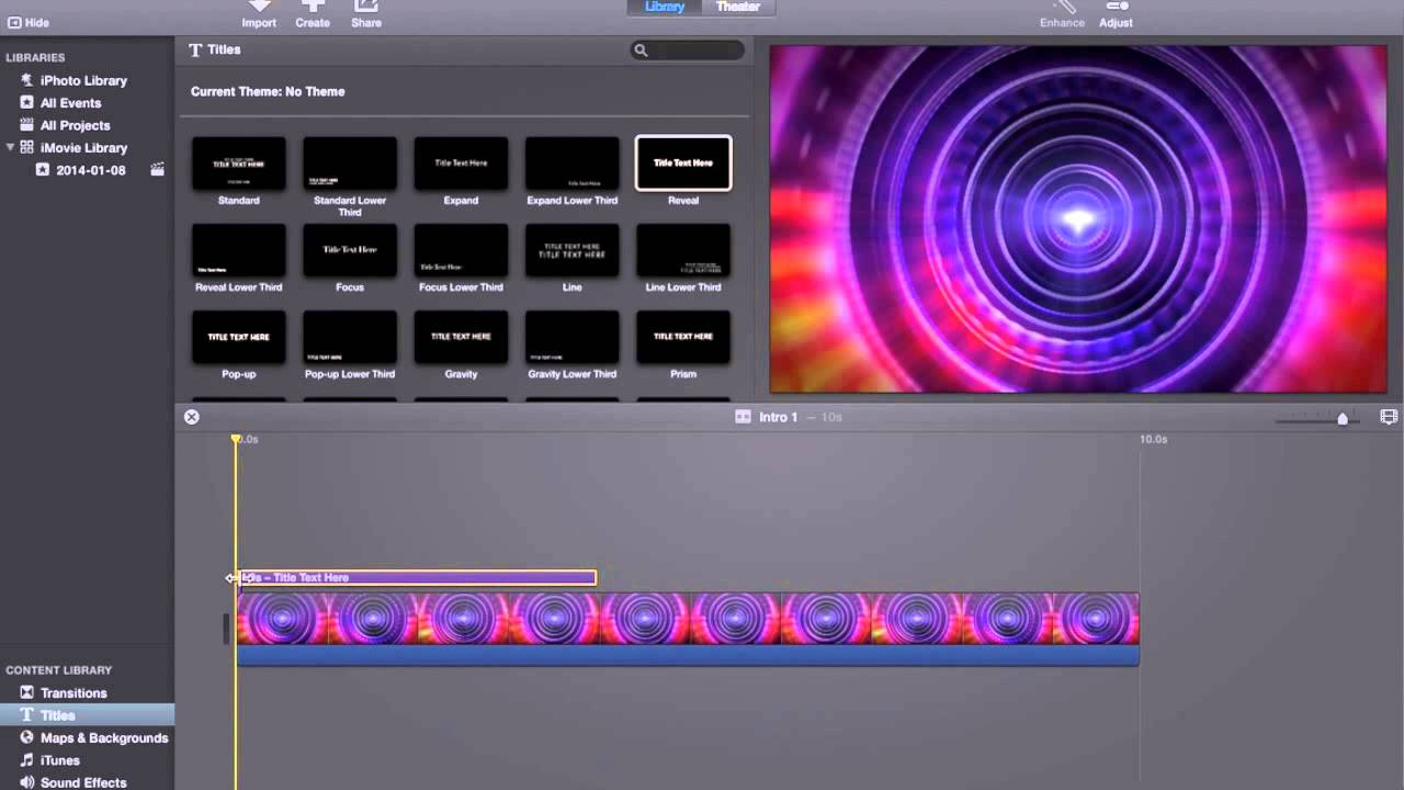 How To Make An Intro For Youtube Videos In iMovie (Easy)