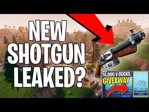 Fortnite New Shotgun Leaked 10000 V Bucks Giveaway Last Day Of Giveaway