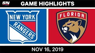 NHL Highlights   Rangers vs Panthers - Nov. 16, 2019