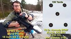 Hornady 75 Gr. BTHP Range Test