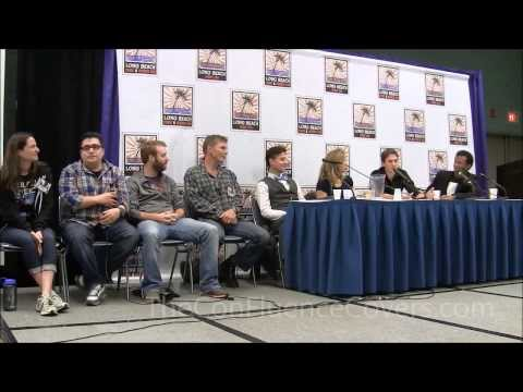 Young Justice Reunion Panel - Artemis & Wally Talk About Their 1st Kiss
