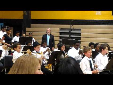 Shmuel's band concert Brittany Woods Middle School 2016 #6