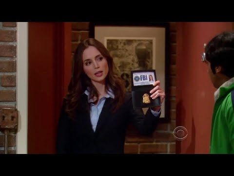 HD The Big Bang Theory  Rajesh meets FBI agent Eliza Dushku