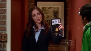 The Big Bang Theory - Rajesh Meets FBI Agent Eliza Dushku