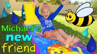 michael s first water slip and slide    little tikes wet dry first slide review