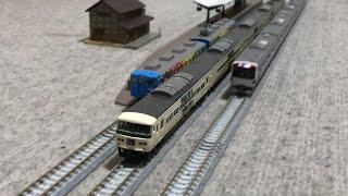 JR常磐線E531系と特急踊り子号185系、富士急行5000形5001+5002編成トーマスランド号が走行!【Nゲージ】