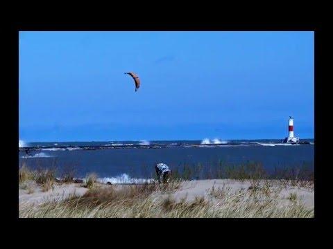 Kiteboarding-Lake Michigan, Waukegan, Illinois