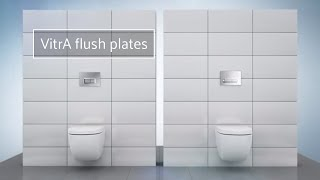 The range of sleek VitrA flush plates