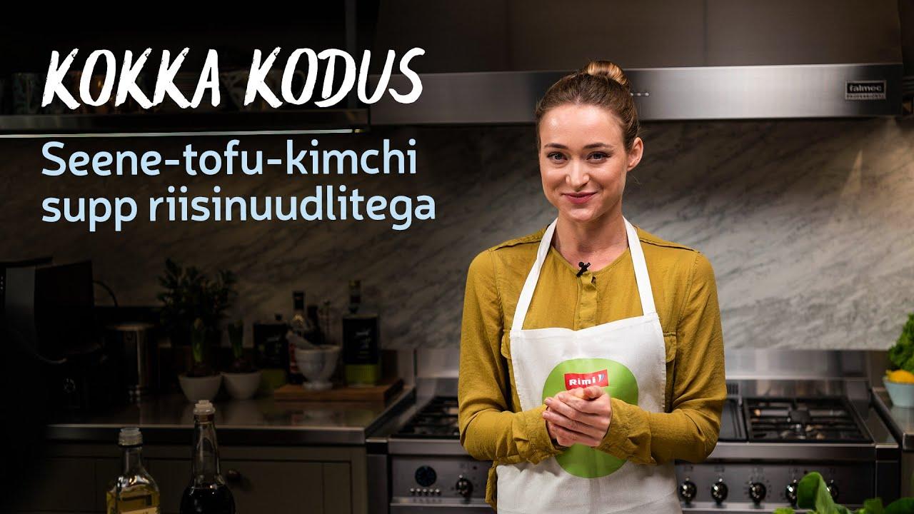 🍜Kokka kodus | Seene-tofu-kimchi supi retsept oanuudlitega