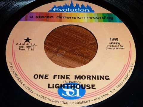 """Lighthouse """"One Fine Morning"""" 45rpm"""