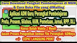 ADM/Perangkat Pembelajaran K13 Revisi 2019 (Cara Download & Buka File di Media Guru Wakatobi)