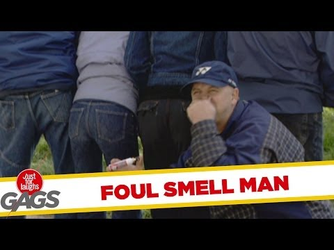 Foul smell man