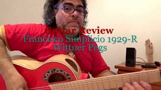 The bright tone of the White Ebony Persimmon Simplicio 1929-r Wittner pegs/Andalusian Guitars Spain