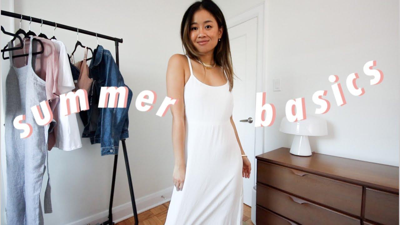 summer clothing basics haul | easy outfit ideas