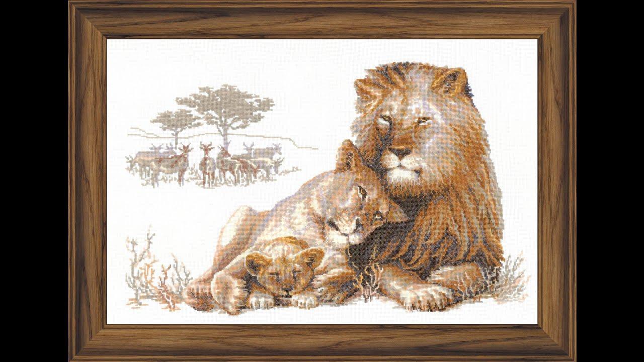 Львиный рай вышивка риолис