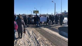 Дольщики СУ- 155 блокировали Колтушское шоссе. 04.03.19