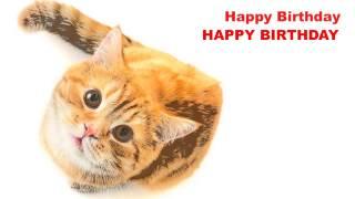 Happy Birthday   Cats Gatos - Happy Birthday