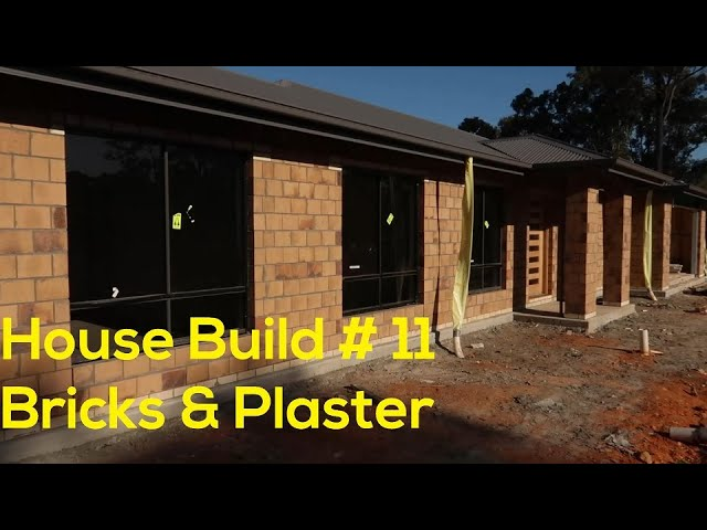House Build # 11 - Bricks done and wall lining