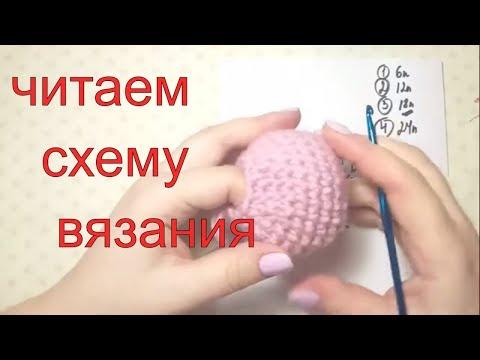 Голова зайки. мк. схема крючок. как читать схему вязания крючком #амигуруми