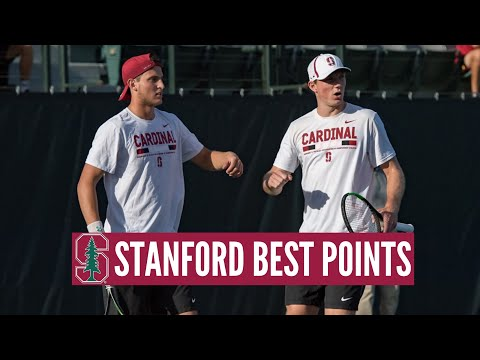 Stanford Men's Tennis ● Cardinals Best Points and Rallies.