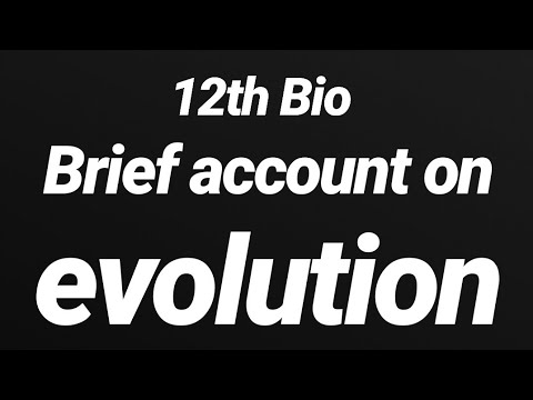 #46 12th NCERT Bio Line to line in hindi #CHAPTER_7_EVOLUTION # a brief account of evolution thumbnail
