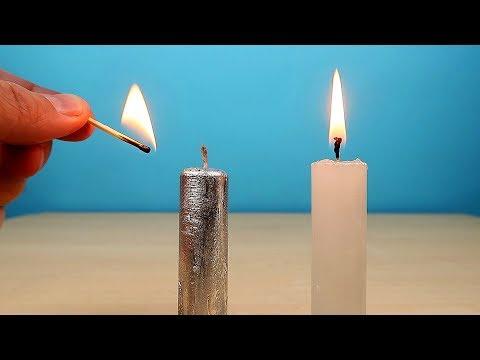 Что если сделать Свечу из Галлия и зажечь ее? Свеча из металла Галлия! alex boyko