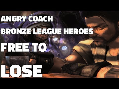 Angry BRONZE LEAGUE HEROES Coach HOUR - FREE TO LOSE (Learn* Starcraft All Races)