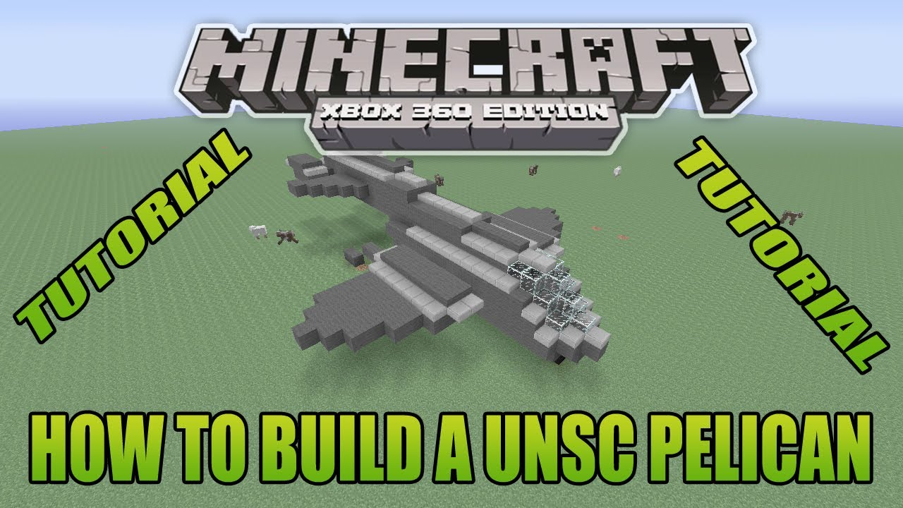Minecraft Xbox Edition Tutorial How To Build A UNSC Pelican - YouTube