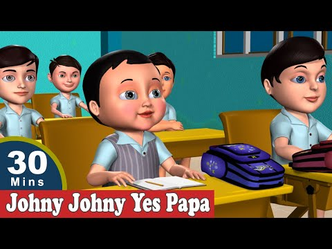 Johny Johny Yes Papa Nursery Rhymes - The Best 3D Animation Rhymes & Songs For Children