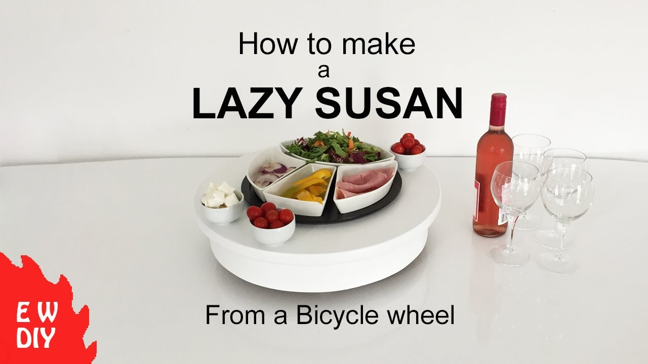 How To Make A Lazy Susan Using A Bicycle Wheel Youtube