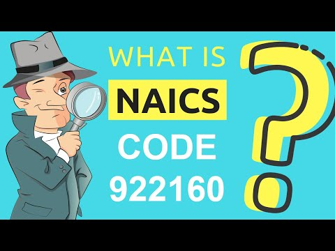 What is NAICS Code 922160?   Class Codes