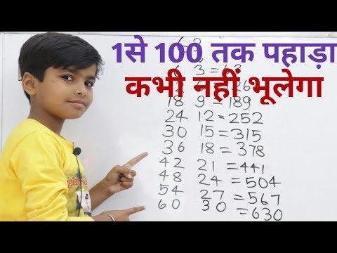 1से 100 तक पहाड़ा || Learn 1 To 100 Table || Table Yaad Karne Ka Trick || Pahada Kaise Yaad Kare ||