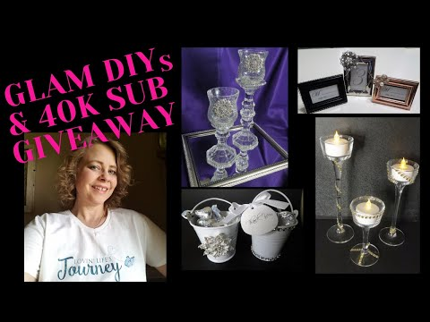 easy-budget-friendly-glam-diys-&-40k-subscriber-giveaway-|-home-decor-or-wedding-|-totally-dazzled