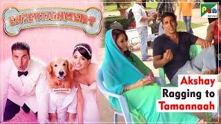 Entertainment - Akshay Ragging Tamannaah  Behind the Scenes quotFUNNYquot