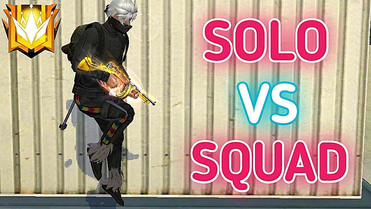 SOLO VS SQUAD ON GRANDMASTER 12700+ RANK POINTS !!!!