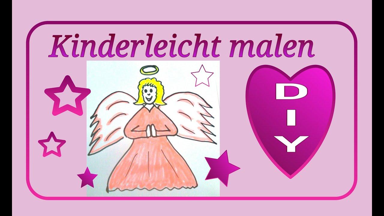 Malen für Kinder : Süßer Engel * Julebuergerfee - YouTube
