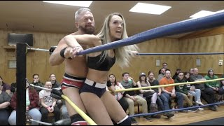 Ava Everett vs. Mark Sterling - Limitless Wrestling (Let's Wrestle, Intergender, Mixed)