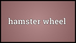 Hamster wheel Meaning