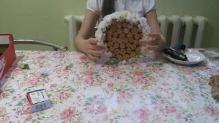 DIY ключница/ключница из винных пробок\(1часть)