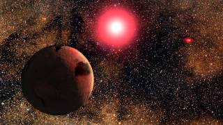 Frozen World Orbits In A Binary Star